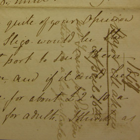 Denis Mahon to John Ross Mahon, 13 April 1847