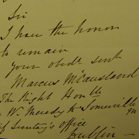 Marcus McCausland to the Lord Lieutenant, 17 November 1847